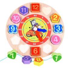 Вкладыши-часы-шнуровка «Зебра»