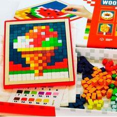 Мозаики с кубиков «Узоры», цветные