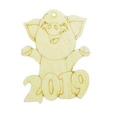 Ёлочное украшение «Свинка 2019»