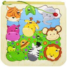 «Зоопарк» мозаика + рыбалка, 25 дет.