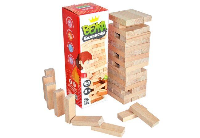 Игра «Башня», 54дет. (дерев.)