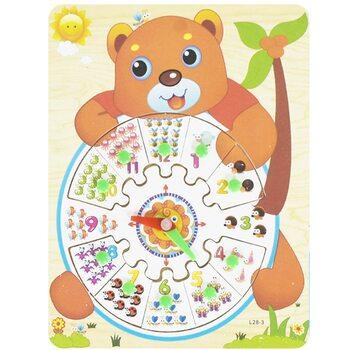 Часы-вкладыши «Медведь»