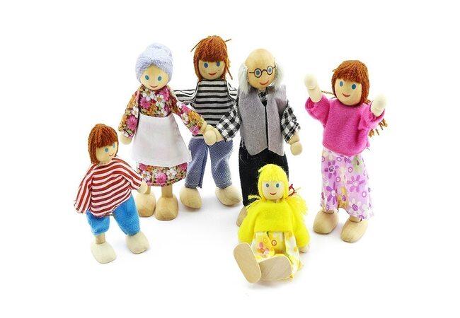 Деревянные куколки, 6 штук.