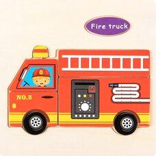 Пожарная машина, 6 деталей