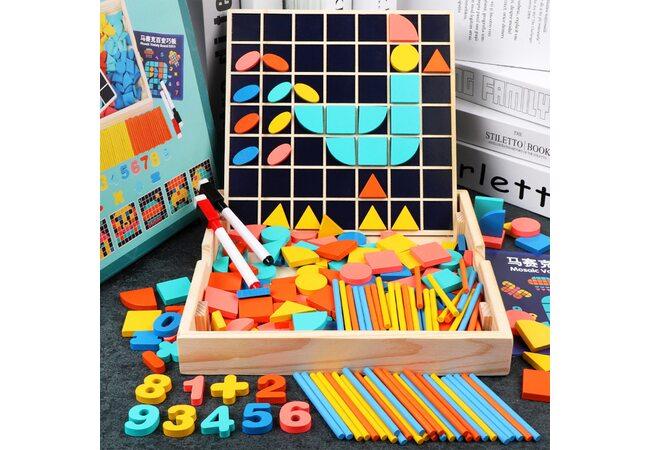 Мозаика «Геометрические блоки», 244 дет.