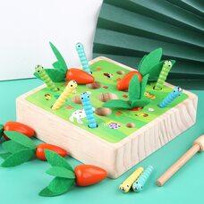 Развивающая игра «Морковки-гусенички»
