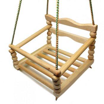 Качеля подвесная деревянная «Фигурная»