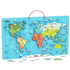 Магнитная карта мира (анг.)