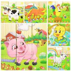 9 кубиков «Домашние животные»