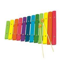 Деревянный ксилофон, 12 тонов для малышей