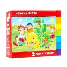 Деревянные кубики «Репка и Теремок», 6 шт.