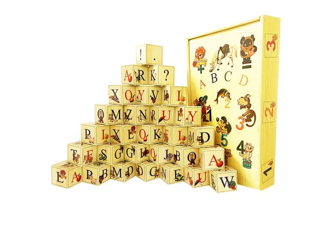 Английский алфавит, 28 кубиков.