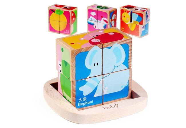 Детские кубики «Ассорти», 4 шт.