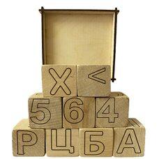 Кубики буквы-цифры-знаки, 9 шт. (укр.)