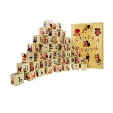 Русский алфавит, 35 кубиков (в пенале)