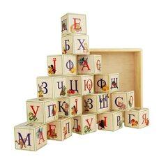 Украинский алфавит, 16 кубиков (на подставке)
