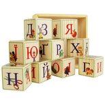 Украинский алфавит, 9 кубиков (на подставке)