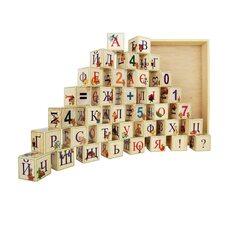 Украинский алфавит, 35 кубиков (на подставке)