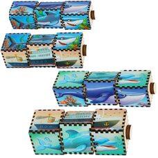 Пирамидка-кубики «Водный мир», 3 шт.