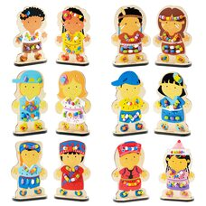 Шнуровка-куколки «Национальности»