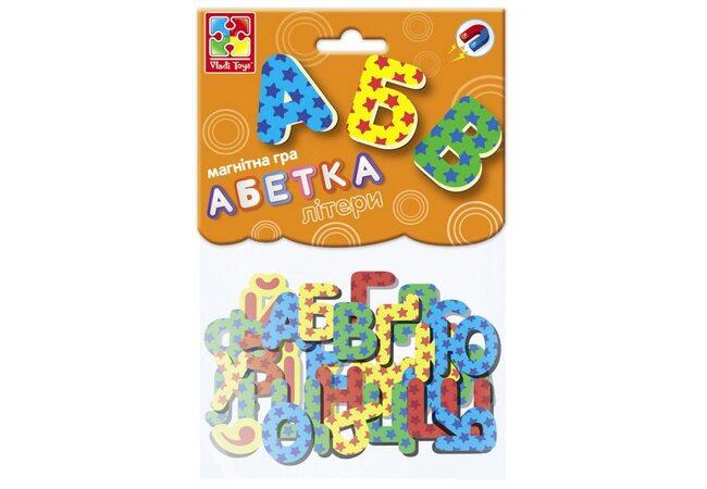 Набор магнитов «Абетка» (укр.), 34 буквы
