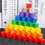 Учебные пособия Монтессори «Магнитное разнообразие». Магнитные кубики.
