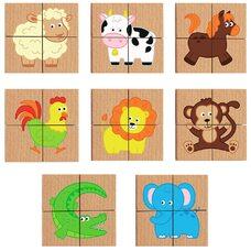 Пазлы магнитные «Животные» от ТМ «Viga Toys»