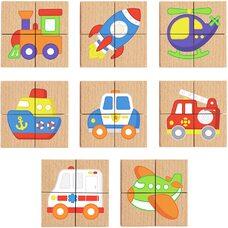 Пазлы магнитные «Транспорт» от ТМ «Viga Toys»
