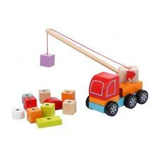 Каталка «Авто-кран с кубиками»