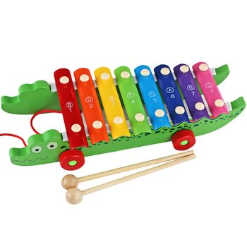 Ксилофон на колесиках «Крокодил»