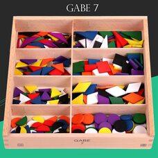 Игровой набор Дары Фребеля. Комплект 7 – Цветные фигуры.