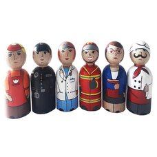 Деревянный набор куколок «Профессии»