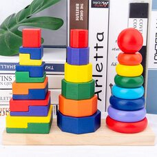 Набор пирамидок от простого к сложному 3 в 1