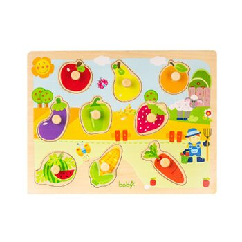 Вкладыши «Фрукты-овощи»