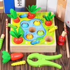 Игра-рыбалка «Морковки-гусенички-рыбки»