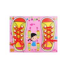 Шнуровка «Два башмака» розовая