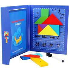 Танграм и Т-головоломка в папке с заданиями (магнитный)