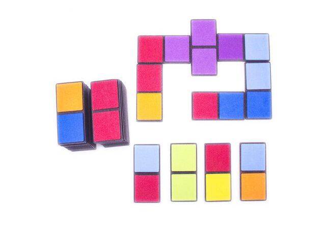 Цветное домино с мягким покрытием от ТМ Розумний Лис