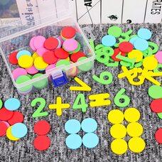 Игра «Цветные кружочки-цифры-знаки»