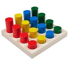 Игра «Цветные цилиндры»