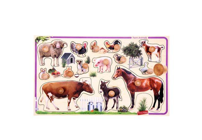 Фигуры-вкладыши «Домашние животные»