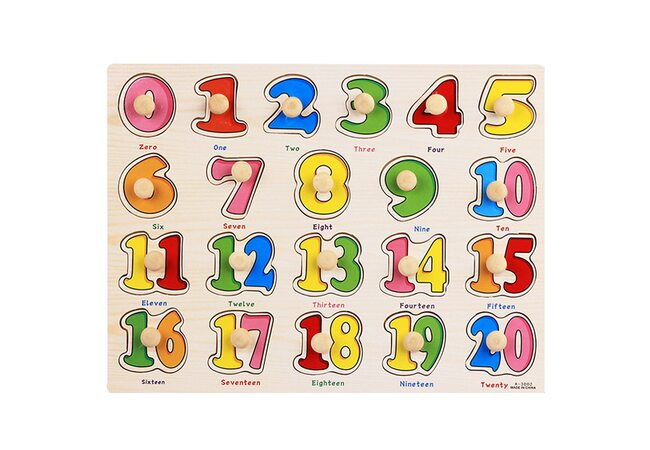 Рамка-вкладыш с ручкой «Цифры» от 1 до 20