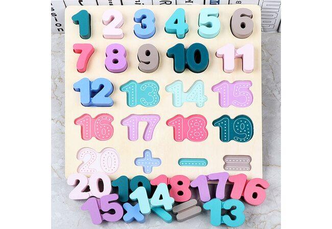 Цветные цифры цвета (с подслоем)