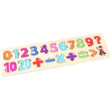 Рамка-вкладыш без ручек «Цифры-знаки» от 0 до 9