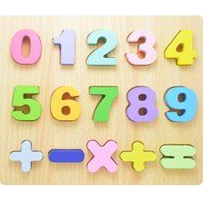 Объемные вкладыши «Цифры-знаки 0-9»