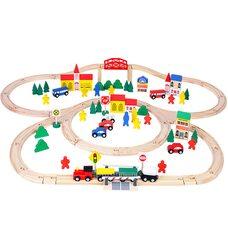 Деревянная железная дорога, 100 дет.