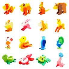 Цветные 3-D модели «Животные»