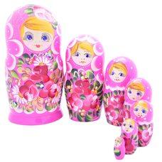 Матрешка 7 в 1 «Украинская» (розовая)