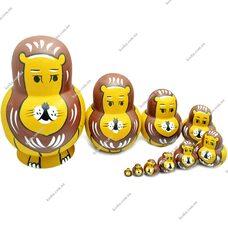 Матрешка «Львиная семья», 10 в 1