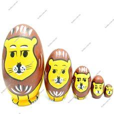 Матрешка «Львы», 5 в 1